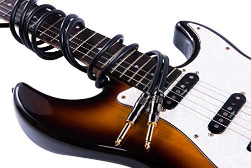 Geflochtene Gitarre Kabel Zink-Legierung Vernickelung Bass Musikinstrument Kabel Gelb