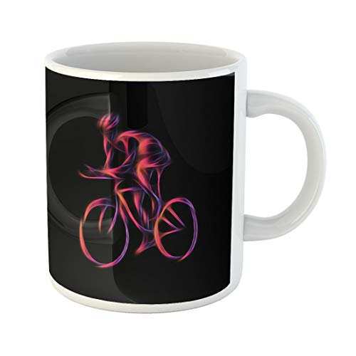 - Semtomn Funny Coffee Mug Activism Cyclist in Bike Race Color Adrenaline Athlete Bicycle 11 Oz Ceramic Coffee Mugs Tea Cup Best Gift Or Souvenir