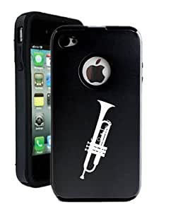 SudysAccessories Trumpet iPhone 4 Case iPhone 4S Case - MetalTouch Black Aluminium Shell With Silicone Inner Protective Designer Case hjbrhga1544 by ruishername