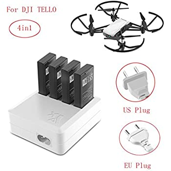 Battery Charger For DJI Tello Drone Rucan 4in1 Multi Hub RC Intelligent Quick Charging US Plug