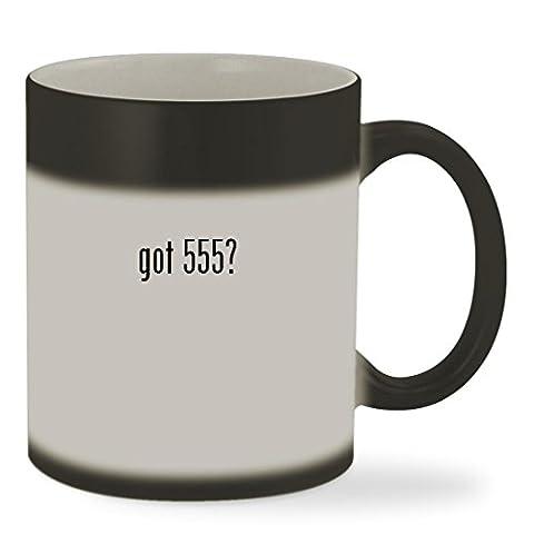 got 555? - 11oz Color Changing Sturdy Ceramic Coffee Cup Mug, Matte Black (Better Pack 555s)