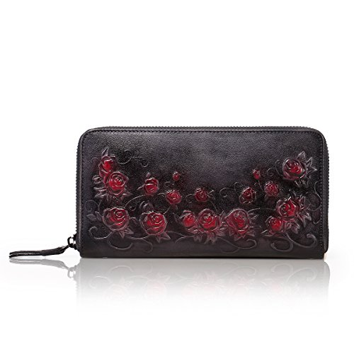 Flower Hand Painted Leather Wallet - 6