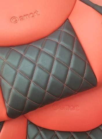 Veganes Leber aus Kunstleder mit Synthetik Zwei Luxus Autositzbez/üge 453 Top Car Ath    Rhombus Kompatibel mit SMART FORTWO 100/% Passgenau mit schneidendem Sicherheitsgurt   Farben Rot