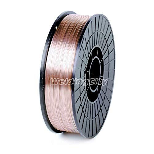 "WeldingCity ER70S-6 ER70S6 Mild Steel MIG Welding Wire 11-Lb Spool 0.030"" (0.8mm)"