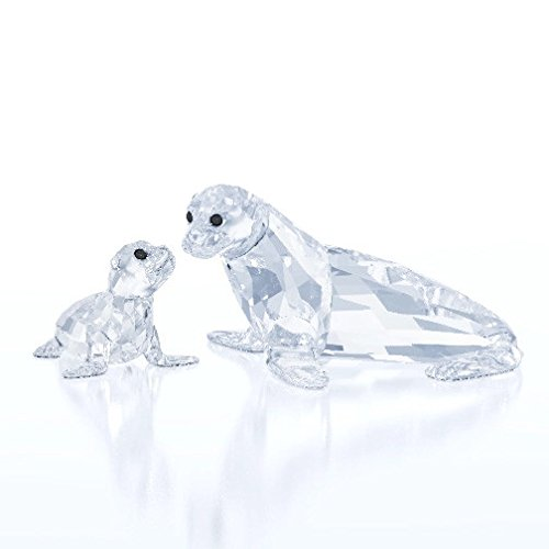 Swarovski Crystal Sea Lion Mother with Baby