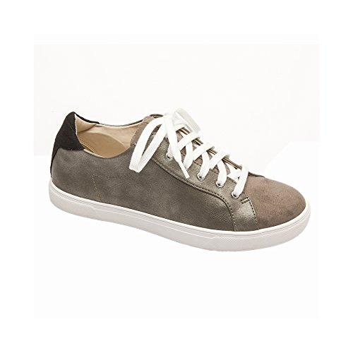 - PIC/PAY Aryo Women's Sneakers - Lace-up Metallic Sneaker Pewter Metallic PU 5M