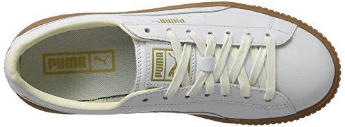 Puma Damen Basket Platform Sneaker Core Weiß (puma Bianco-puma Bianco)
