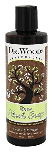 - Dr. Woods Raw Moisturizing Black Coconut Papaya Soap with Organic Shea Butter, 8 Ounce