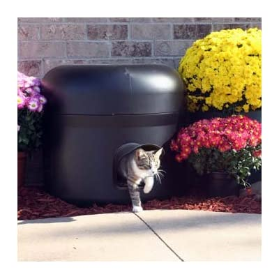 Image of Kitty Tube The Outdoor Insulated Cat House - Feral Option w/Straw & Double Insulated Liner Home and Kitchen
