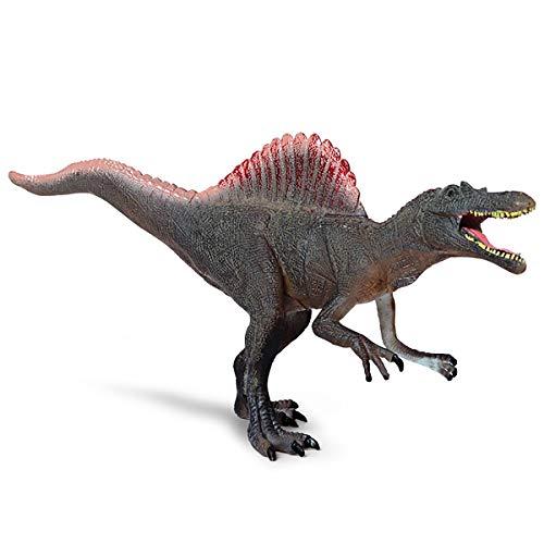 (Kolobok Dinosaur Toys Park – Spinosaurus Toy - Dino World Model – Jurassic Action Figures – Red Gray)