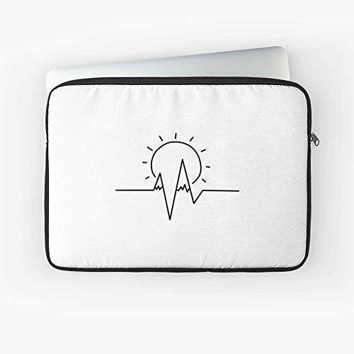 - Mountains Pulse Line Laptop Sleeve - 13 Inch and 15 Inch - Best Gift for Family Friends