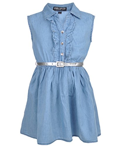 Buy light blue ruffle dress - 8