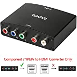 Easycel Component to HDMI Converter, 5RCA Component RGB YPbPr to HDMI Converter Supports 1080P Video Audio Converter Adapter for DVD PSP Xbox 360 PS2 Nintendo NGC to New HDTV Monitor or Projector