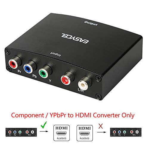 - Easycel Component to HDMI Converter, 5RCA Component RGB YPbPr to HDMI Converter Supports 1080P Video Audio Converter Adapter for DVD PSP Xbox 360 PS2 Nintendo NGC to New HDTV Monitor or Projector