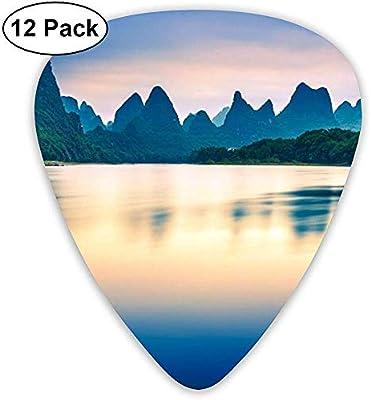 Beautiful Nature Scenery Alpine River Púas de guitarra 12 púas de ...