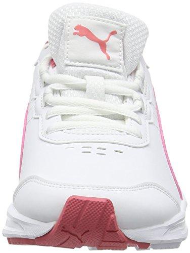 Puma Descendantv4sljf6, Zapatillas de Deporte Exterior Unisex Niños Blanco (White/Coral 04White/Coral 04)