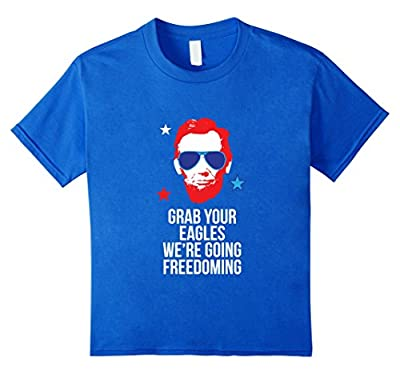 Funny 4th of July Shirt, Abe Grab Your Eagles Gift