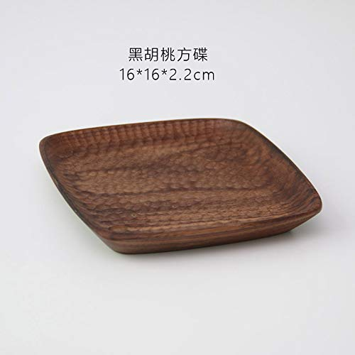Wood Serving Food Plate Snack Dessert Platter Walnut/Beech Wood Tray Home - Beechwood Tray Cutlery