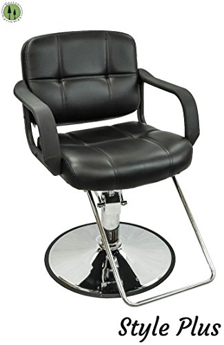 Barber Salon Hydraulic Styling Chair Black
