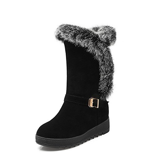 weenfashion-womens-high-heels-solid-round-closed-toe-frosted-pull-on-boots-black-36