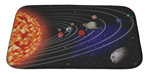Gear New Solar System Bath Rug Mat No Slip Microfiber Memory Foam by Gear New