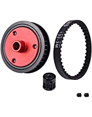 Acekeeps Modified Belt Drive Transmission Gear Set for 1/10 Axial SCX10 SCX10 II 90046 RC Crawler Car