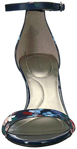 Fasciale Da Donna Con Sandalo Con Tacco In Madia Blu Navy