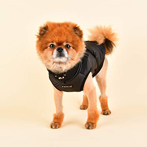 Puppia PLSD-VT1668-BK-M Frost Pet Coat, Black, Medium by Puppia (Image #4)