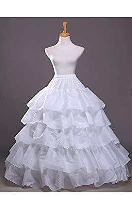 Topdress Women's A Line Floor Length Underskirt Petticoats Slips