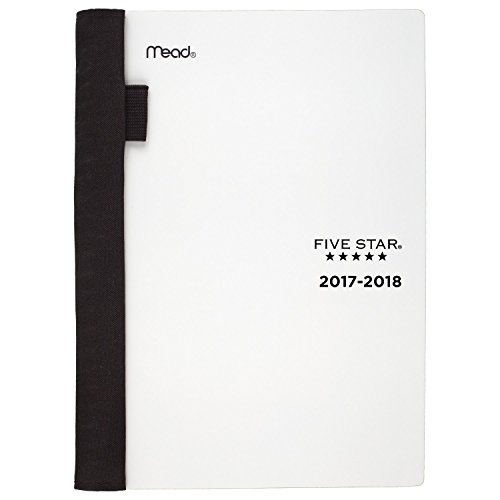 Five Star Student Academic Weekly / Monthly Planner, August 2017 - July 2018, 5-3/4' x 8-1/2', Advance, White (CAW40116)
