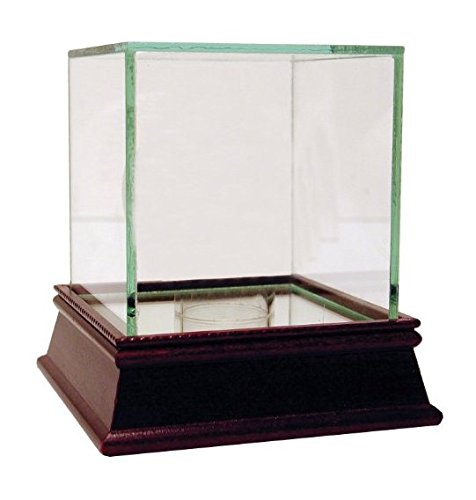 Single Baseball Glass Case (Custom Personalized Steiner Sports Glass Single Baseball Case - UV-Protected, Hand Made - 4 x 4 x 5.25 Inches)