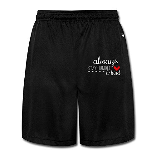 SYYSP Men's Pop Music Shorts Jogging Color Black Size XL