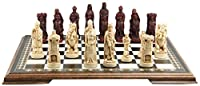 Battle of Bannockburn Themed Chess Set - 4.25 Inches - In Presentation Box - Handmade in UK - Ivory and Burgundy