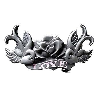 eeddoo Cinturón Hebilla–Golondrinas & Love (Buckle para cambio Cinturón para hombre y mujer)
