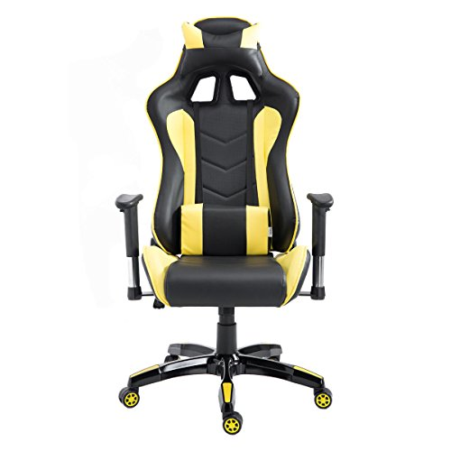 413DYVcY8kL - onestops8 Executive Racing Reclining Gaming Chair High Back Swivel PU Leather Office Chair