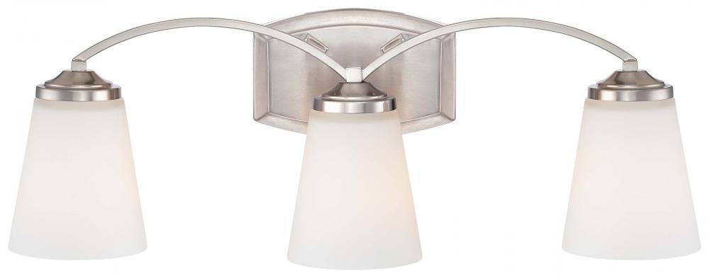 Minka Lavery 6963-84 Overland Park 3 Light Bath Lighting, Brushed Nickel by Minka Lavery