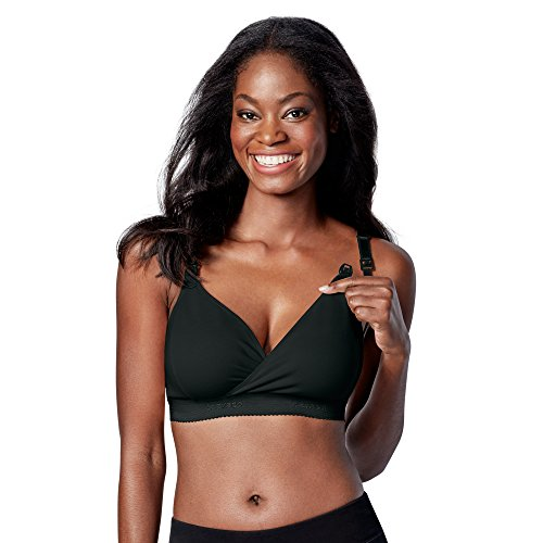Bravado! Designs Women's Original Nursing Bra Plus, Black, Large