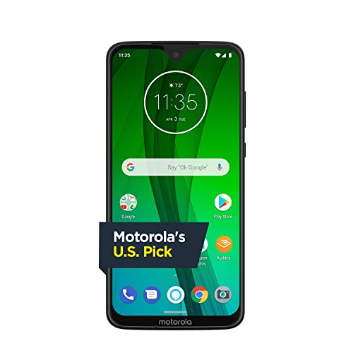Moto G7 with Alexa Hands-Free - Unlocked - 64 GB - Clear White (US Warranty) - Verizon, AT&T, T-Mobile, Sprint, Boost, Cricket, & Metro (Cell Phone With Plan)