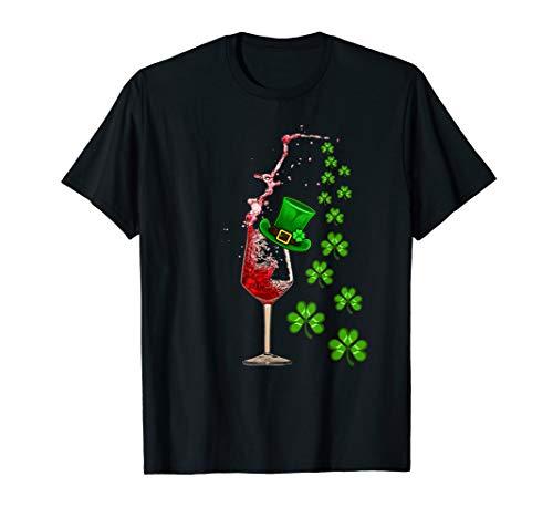 Wine Glass Shamrock Top Hat St Patrick's day 2019 Shirt Gift