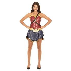 - 413DZ03zhCL - Dc Comics Wonder Woman Warrior Corset and Skirt Costume Set