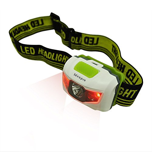 LED Headlamp, 2 Pack, 4 Modes Headlight, Batteries Powered, Adjustable Waterproof Super Bright Flashlight with Red Strobe for Outdoor Running Fishing Hunting Camping Reading Hiking Walking and Kids