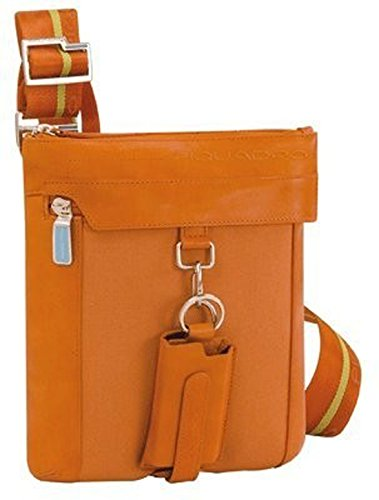 Piquadro Bolsa plana organizada con el bolsillo para reproductor mp3 naranja Icon CA1358IC/AR