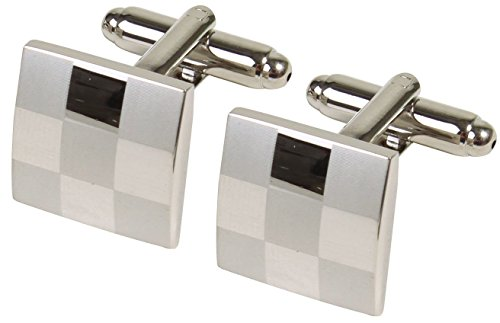 Simplicity Personalized Square Grid Mens Dress Wedding (Personalized Square Cufflinks)