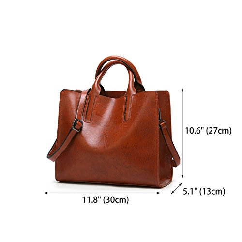 Purses Bags Shoulder Women's Leather Handle Satchel Crossbody Totes Brown Handbags PU Top V1 Bag and wqSH8