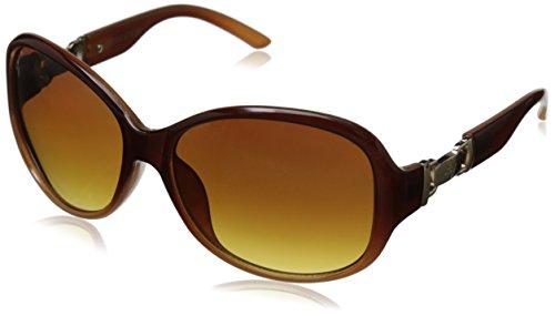 Adrienne Vittadini Women's AV1015 Round Sunglasses, Brown, 58 - Vittadini Adrienne Sunglasses