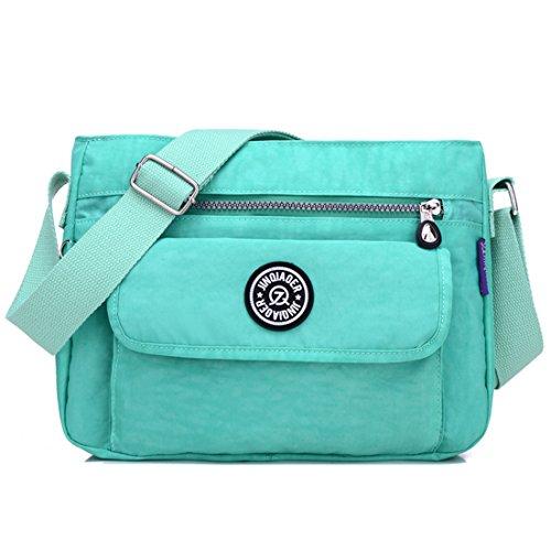 Small Green Nylon Cross amp; Handbags Lightweight TianHengYi T1 Bag Pockets Girls Mint Purses body Multi Shoulder Casual a4ttwxqEg
