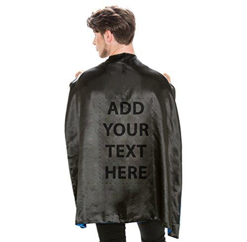 Reversible Adult Black and Black Superhero Custom Personalized Costume Cape (Adult) -