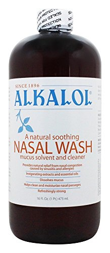 Alkalol Nasal Wash and Mucus Solvent - 16oz, Pack of -