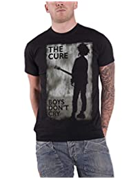 The Cure T Shirt Boys Dont Cry Distressed Band Logo Official Mens New Black