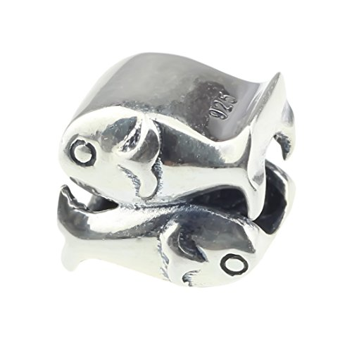 - Beads Hunter 925 Sterling Silver Charm Bead Fishes The Pisces